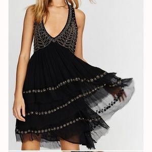 Free People Twilight Mini Dress Boho Lace xs